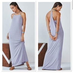 Fabletics neema maxi dress lavender sz small